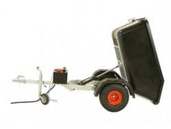 Kippbarer 500 Liter ATV Anhänger Hydraulisch